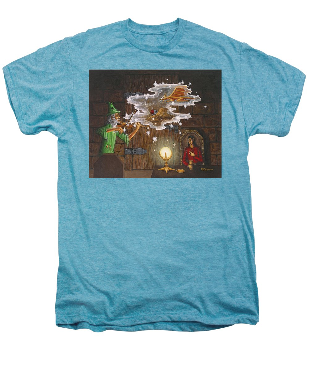 Fantasy Men's Premium T-Shirt featuring the painting Magic Violin by Roz Eve