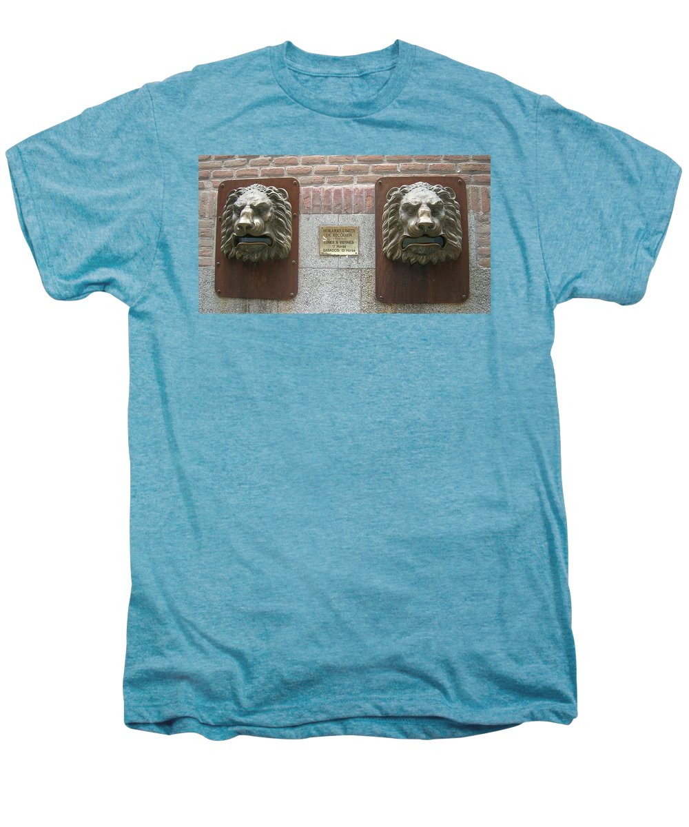 Mailbox Men's Premium T-Shirt featuring the photograph Mailboxes In Toledo Spain by Valerie Ornstein