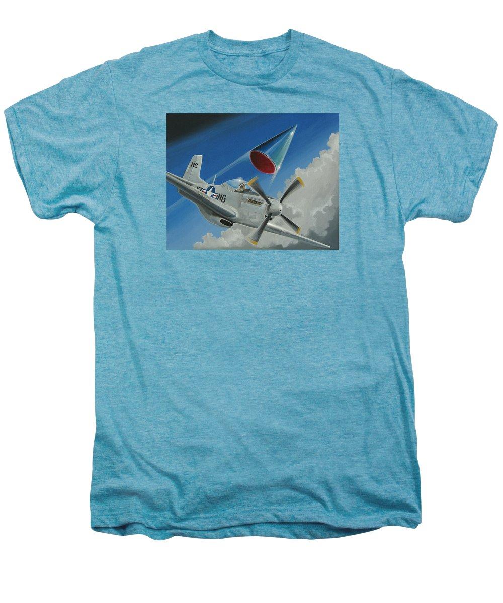 Ufo Men's Premium T-Shirt featuring the painting Mantell Incident by Stuart Swartz