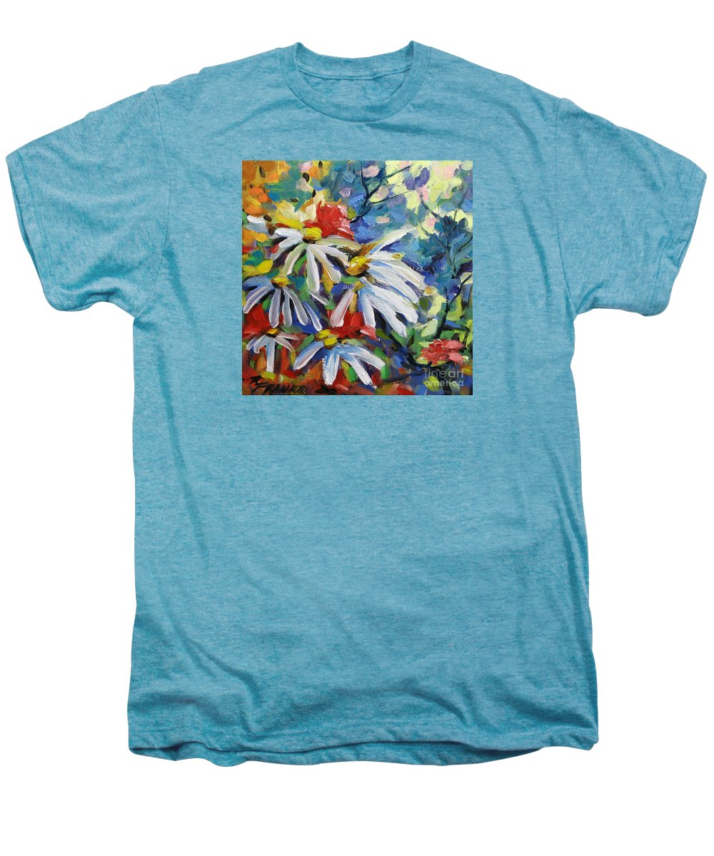 Art Men's Premium T-Shirt featuring the painting Marguerites by Richard T Pranke
