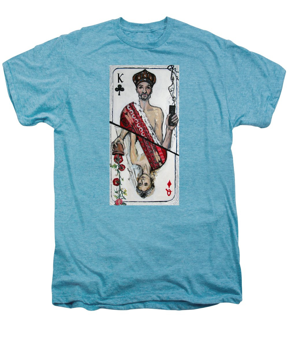 Marriage Men's Premium T-Shirt featuring the painting Marriage by Mima Stajkovic