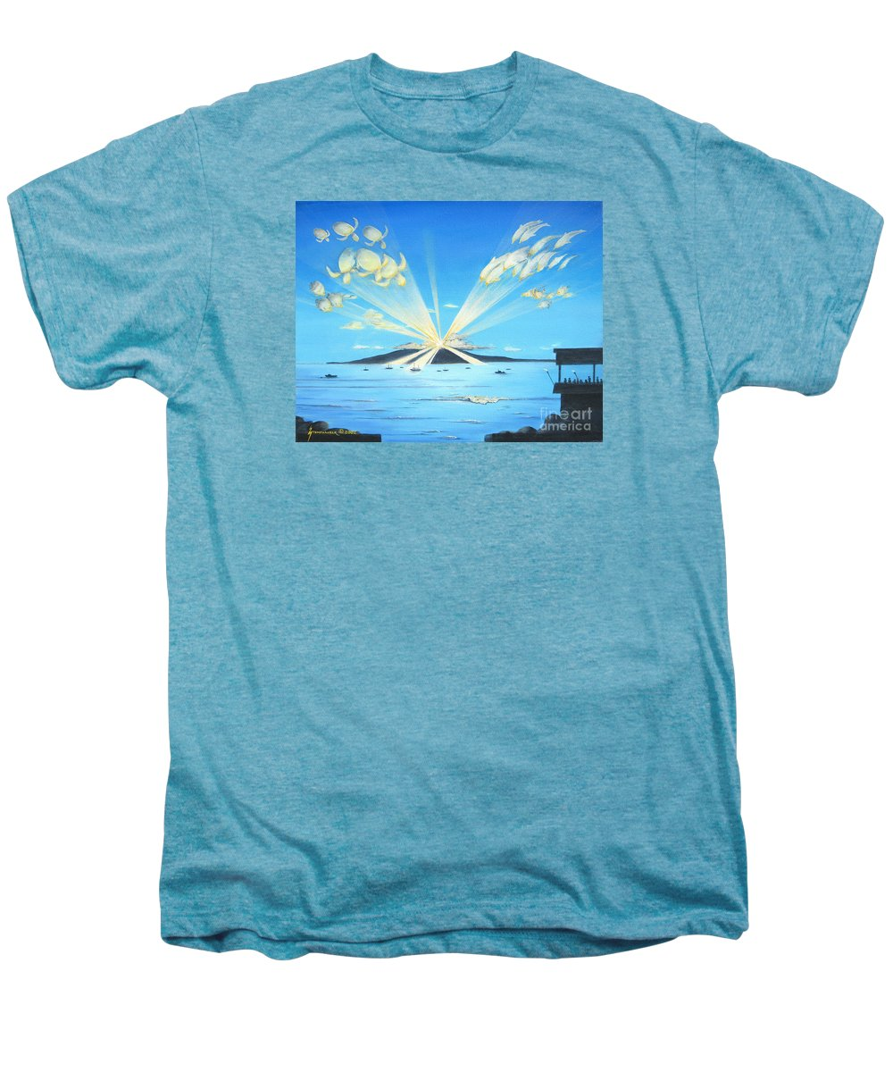 Maui Men's Premium T-Shirt featuring the painting Maui Magic by Jerome Stumphauzer