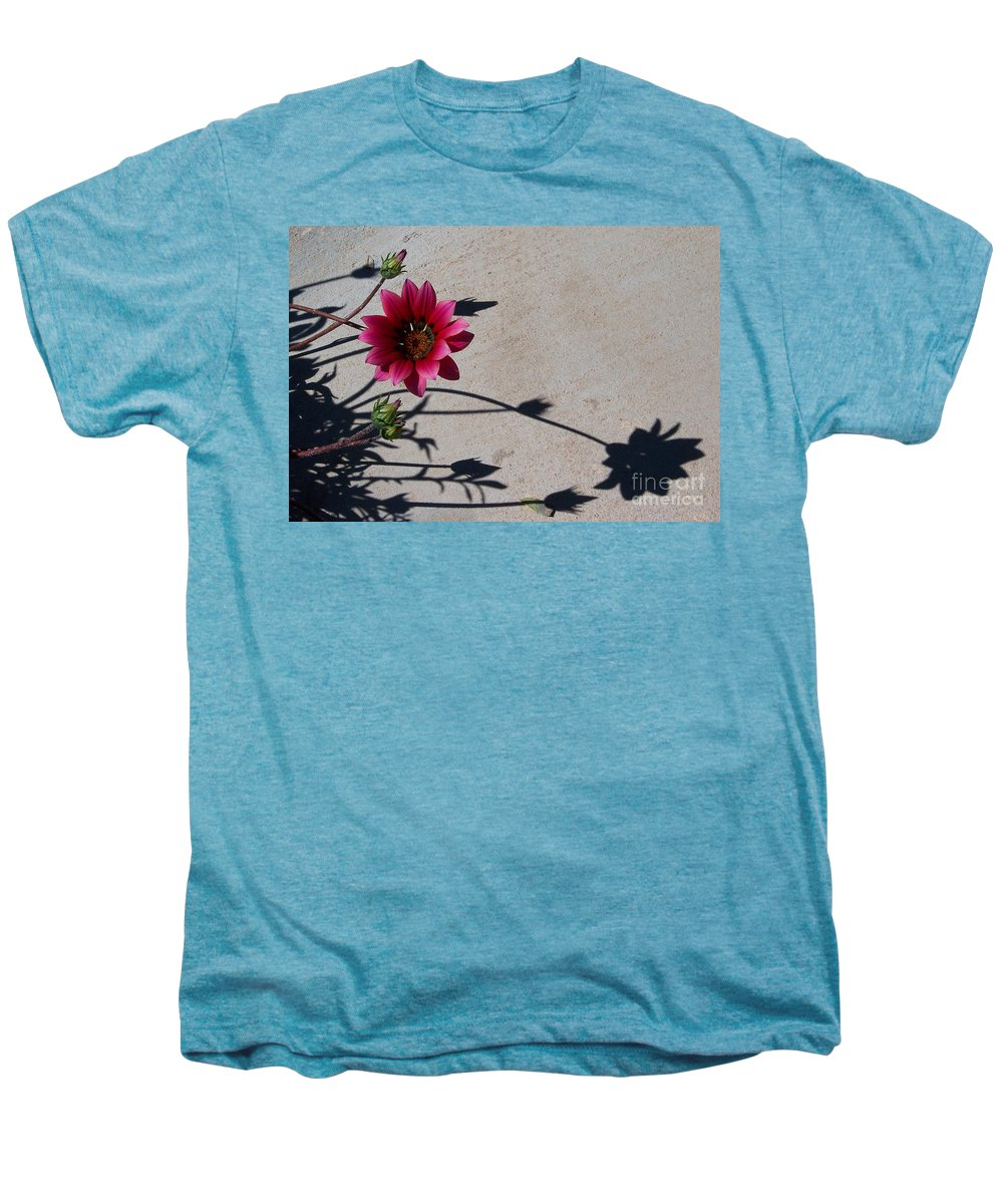 Flowers Men's Premium T-Shirt featuring the photograph Me And My Shadow by Kathy McClure