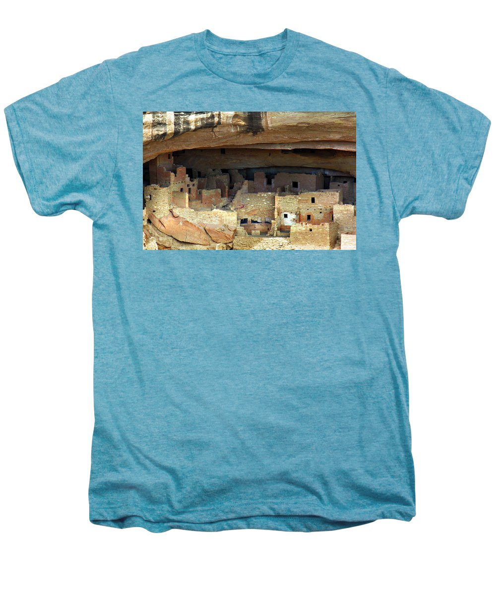 Americana Men's Premium T-Shirt featuring the photograph Mesa Verde by Marilyn Hunt