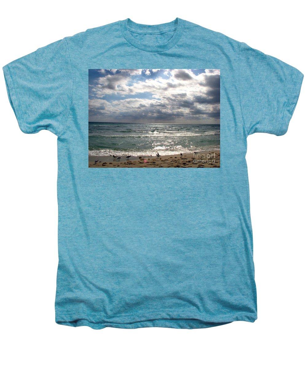 Miami Men's Premium T-Shirt featuring the photograph Miami Beach by Amanda Barcon