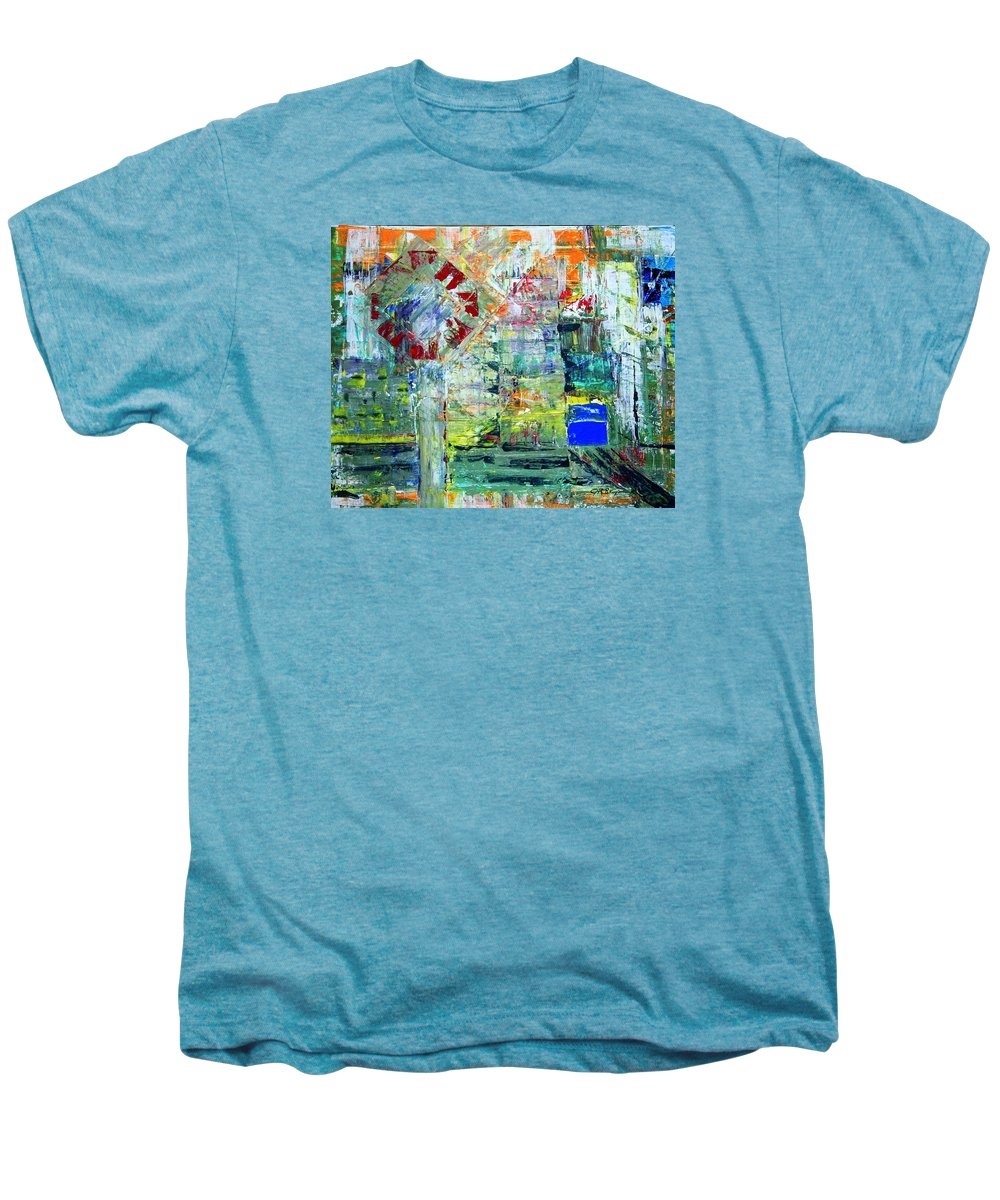 Abstract Men's Premium T-Shirt featuring the painting Milton Place by J R Seymour