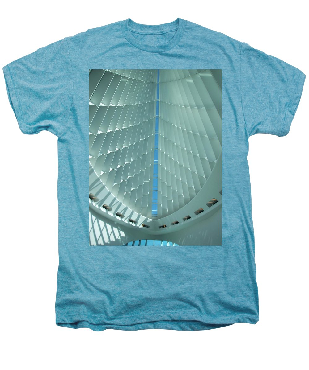 Mam Men's Premium T-Shirt featuring the photograph Milwaukee Art Museum Interior by Anita Burgermeister