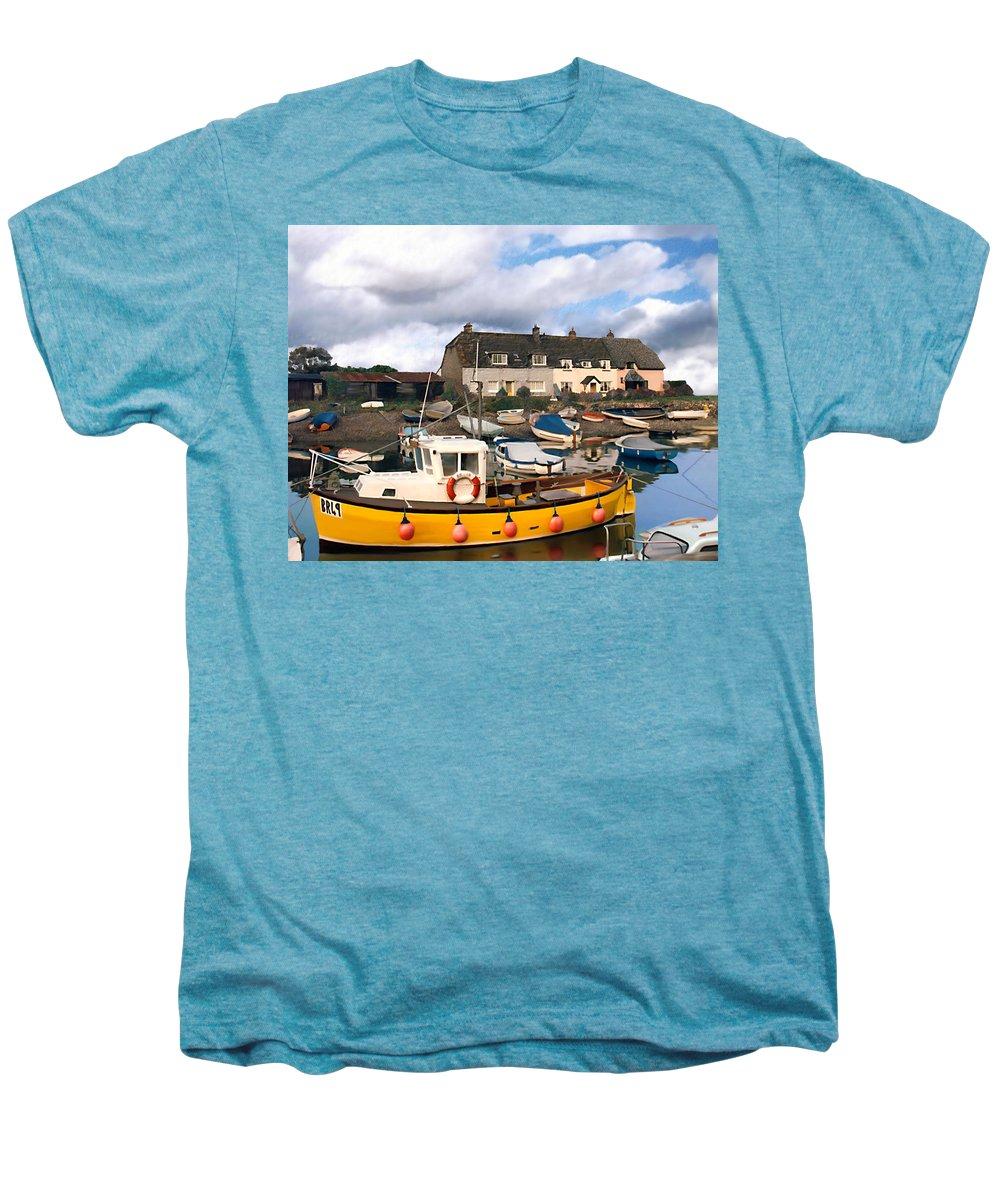 Harbor Men's Premium T-Shirt featuring the photograph Minehead Sommerset by Kurt Van Wagner