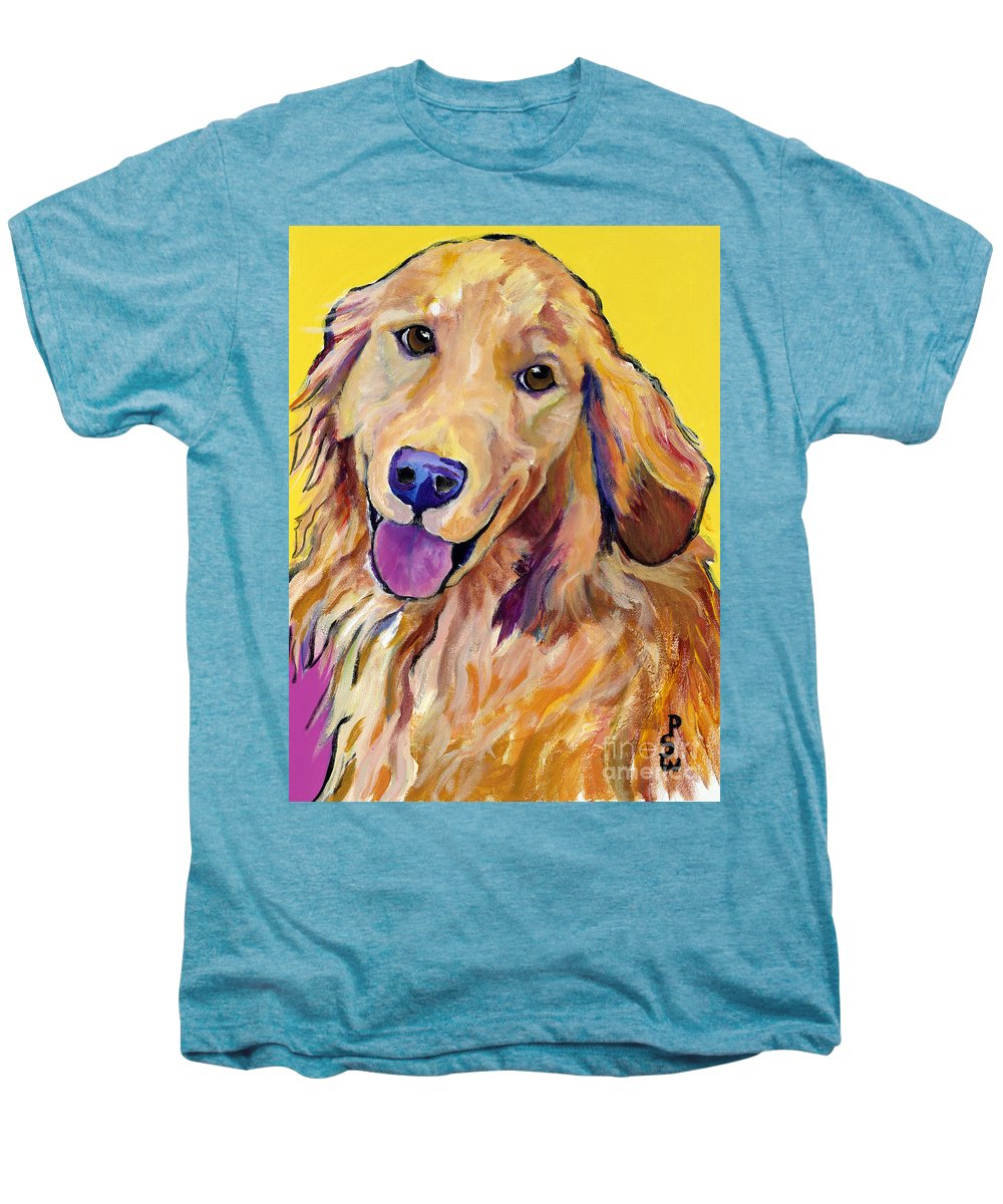 Acrylic Paintings Men's Premium T-Shirt featuring the painting Molly by Pat Saunders-White
