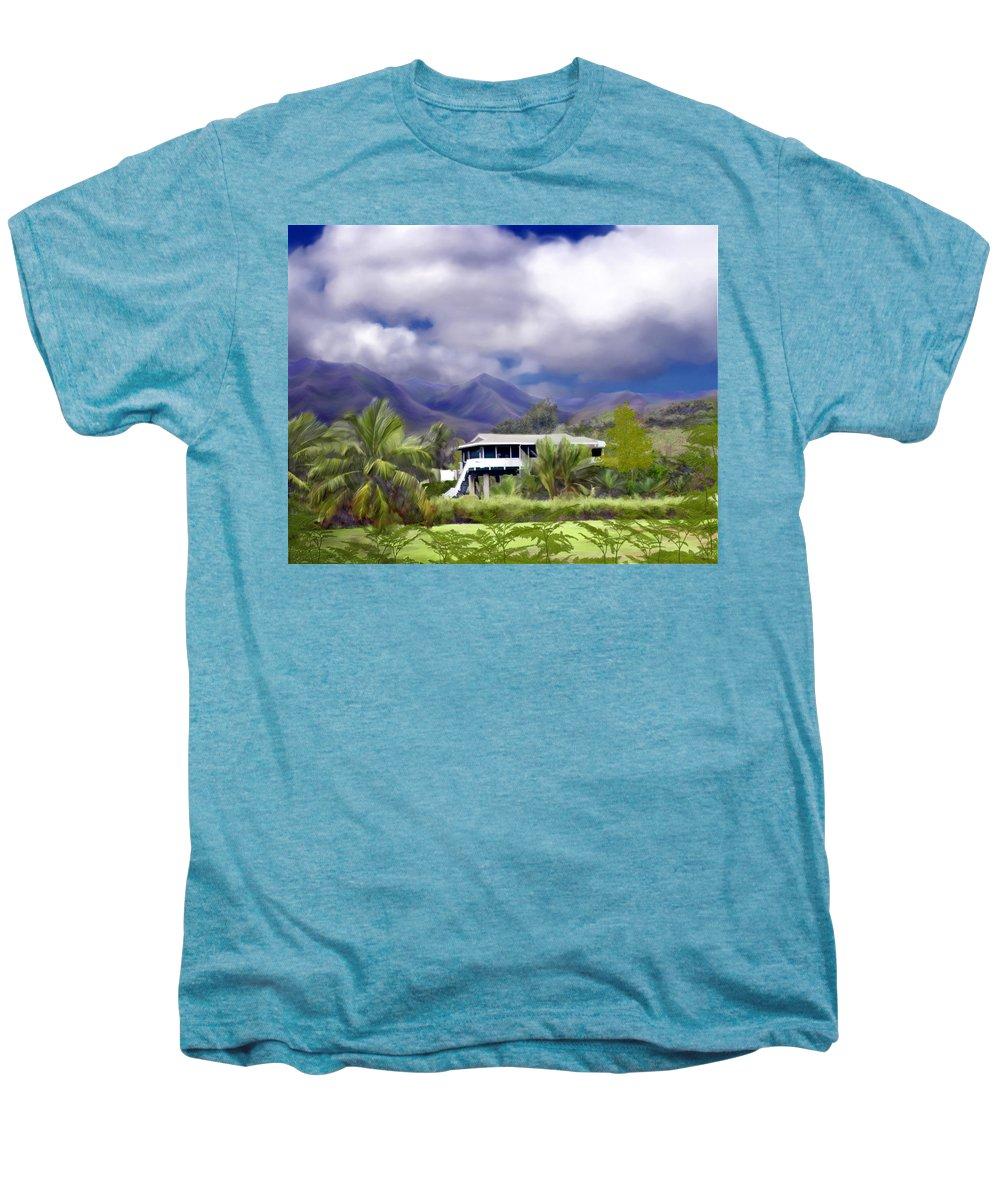 Hawaii Men's Premium T-Shirt featuring the photograph Moloa A Bay Hideaway by Kurt Van Wagner
