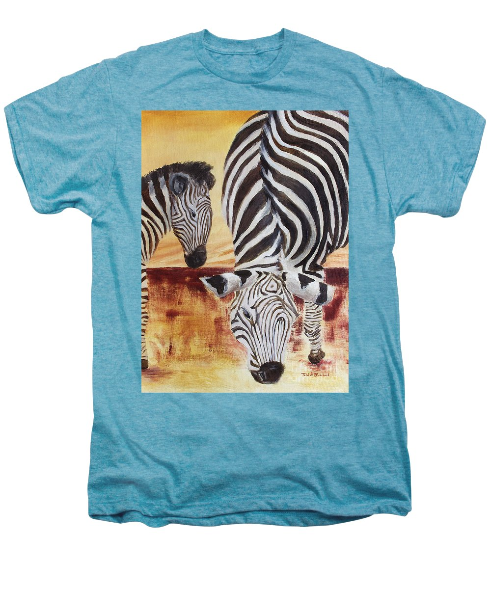 Animal Men's Premium T-Shirt featuring the painting Momma And Baby by Todd A Blanchard