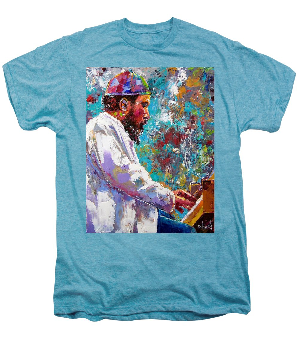 Thelonious Monk Art Men's Premium T-Shirt featuring the painting Monk Live by Debra Hurd