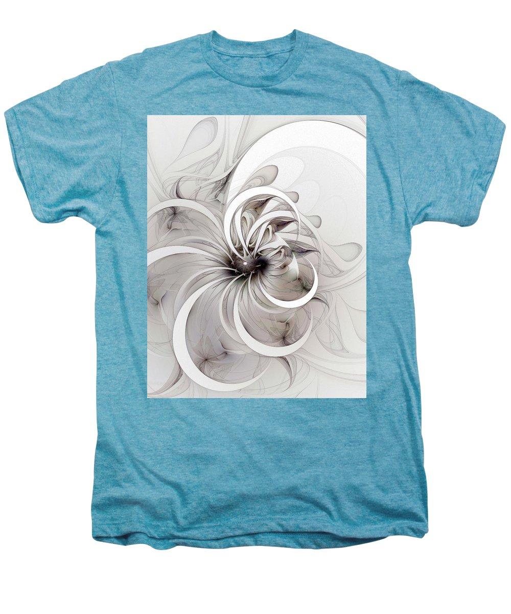 Digital Art Men's Premium T-Shirt featuring the digital art Monochrome Flower by Amanda Moore