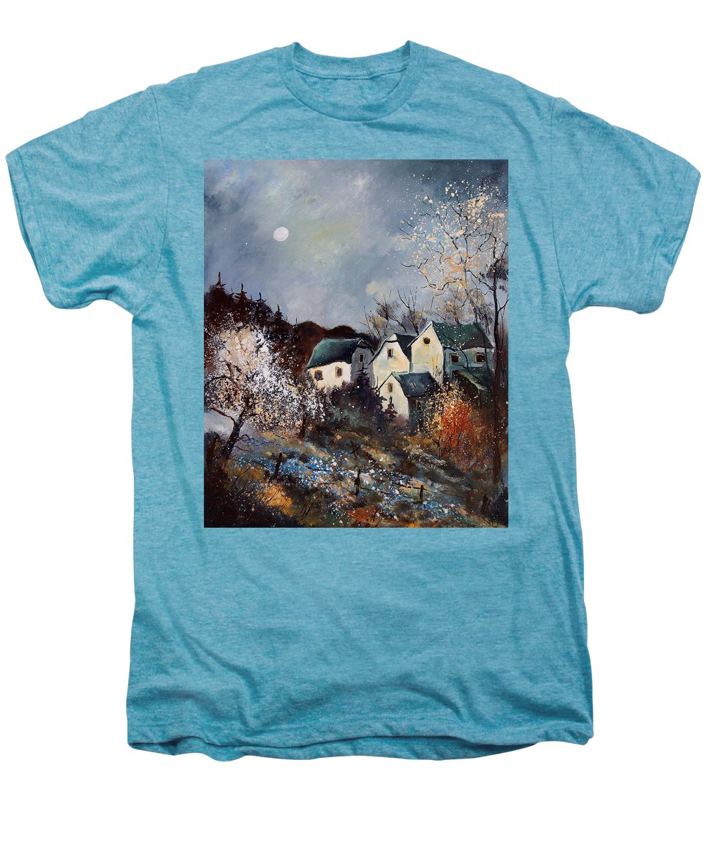 Village Men's Premium T-Shirt featuring the painting Moonshine by Pol Ledent