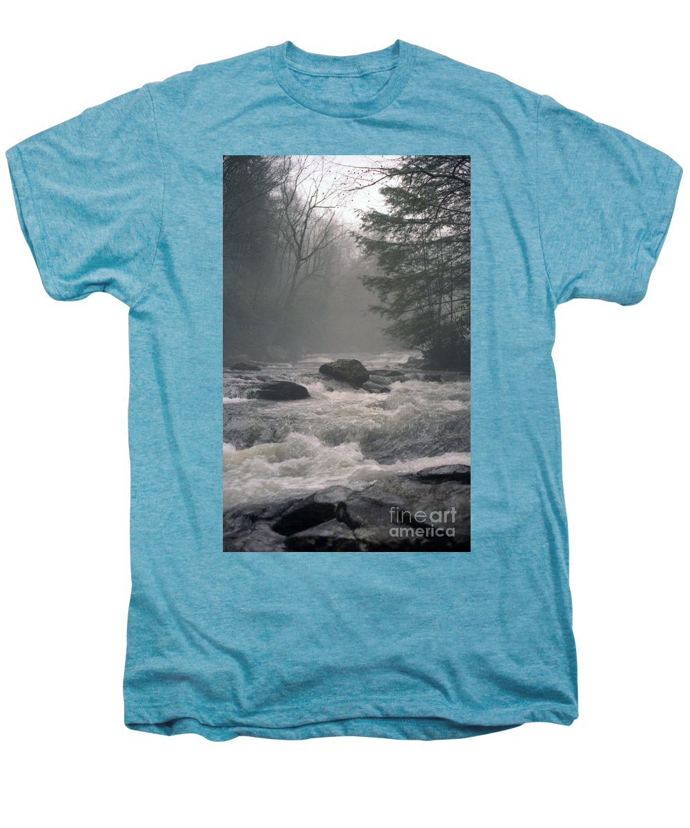 Rivers Men's Premium T-Shirt featuring the photograph Morning At The River by Richard Rizzo