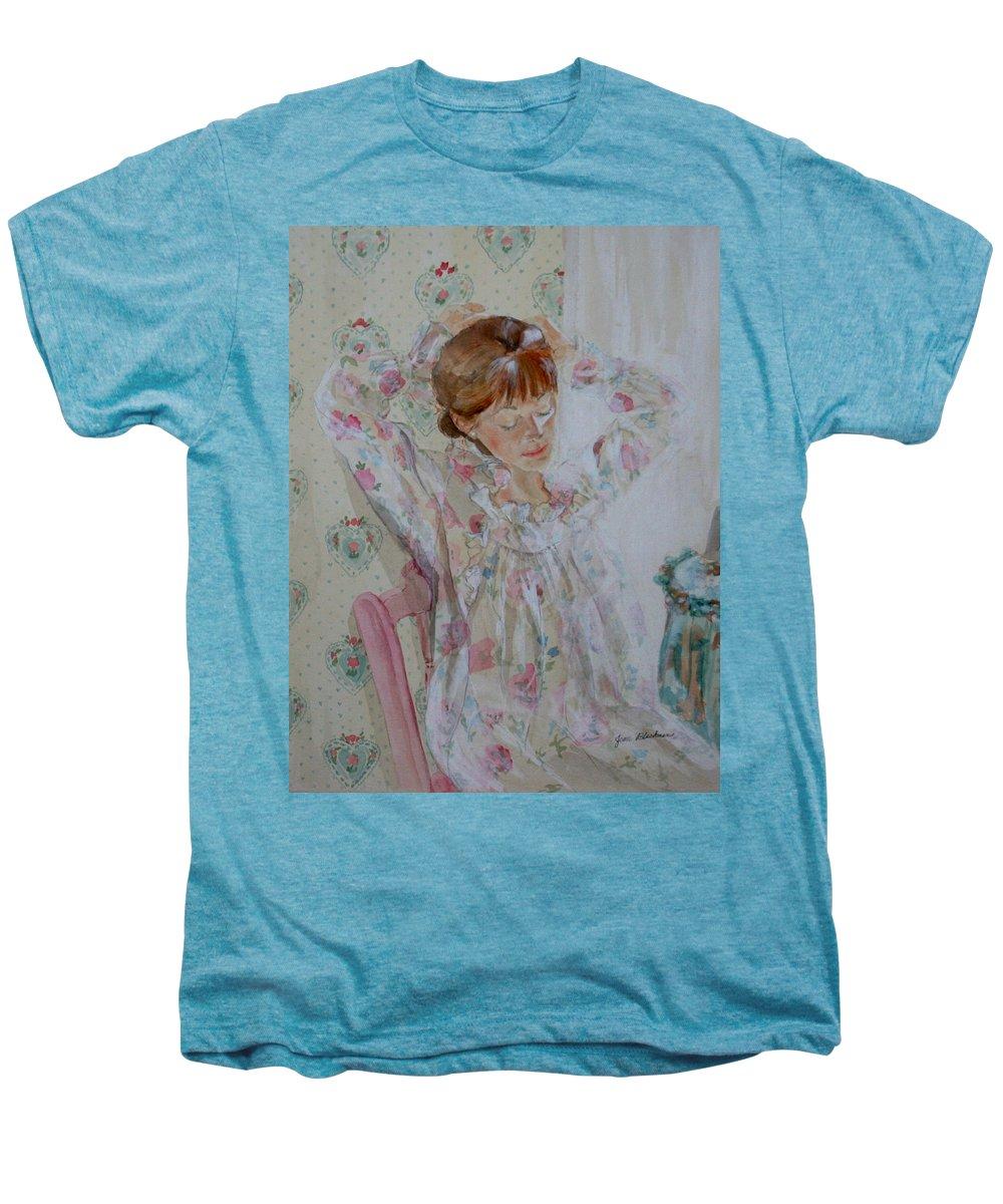 Morning Men's Premium T-Shirt featuring the painting Morning Ritual by Jean Blackmer