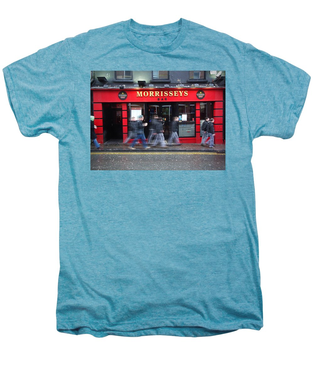 Pub Men's Premium T-Shirt featuring the photograph Morrissey by Tim Nyberg