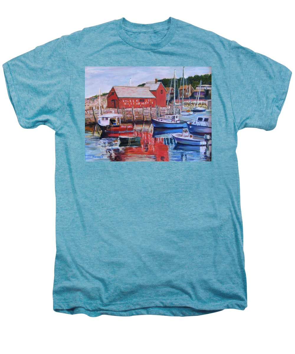Rockport Men's Premium T-Shirt featuring the painting Motif Number One by Richard Nowak