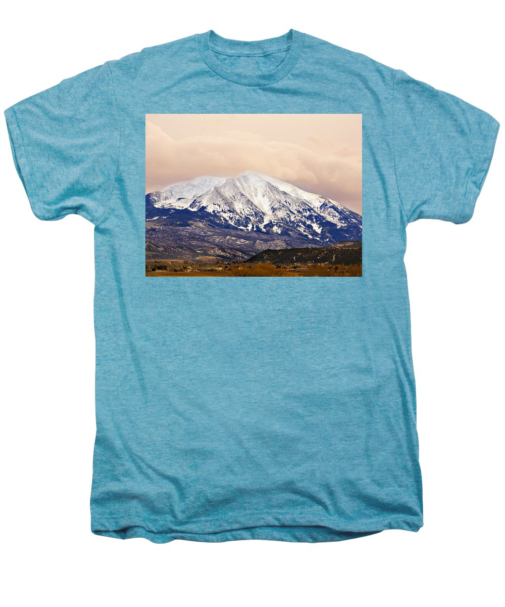 Americana Men's Premium T-Shirt featuring the photograph Mount Sopris by Marilyn Hunt
