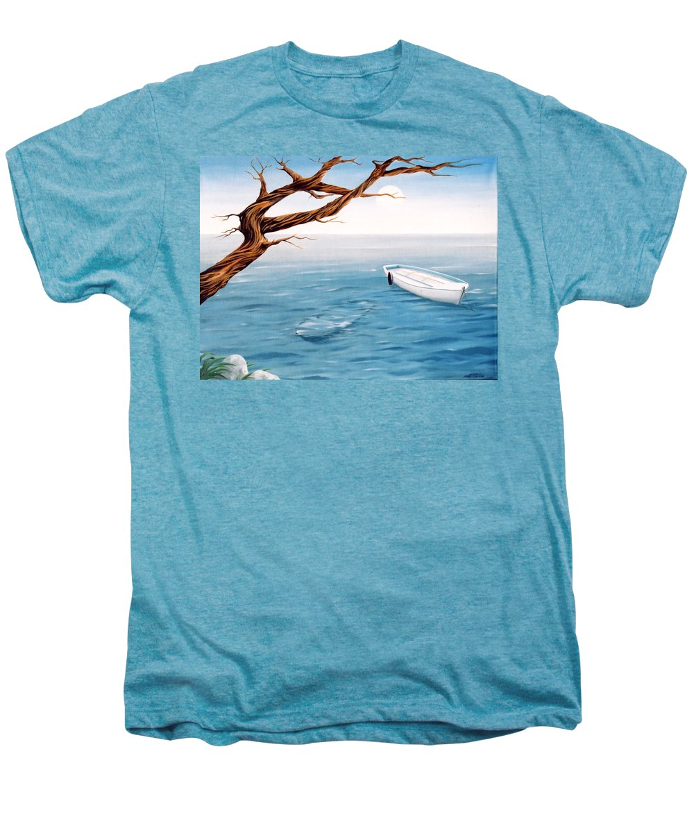 Seascape Prints Men's Premium T-Shirt featuring the painting Mourning Spring by Mark Cawood