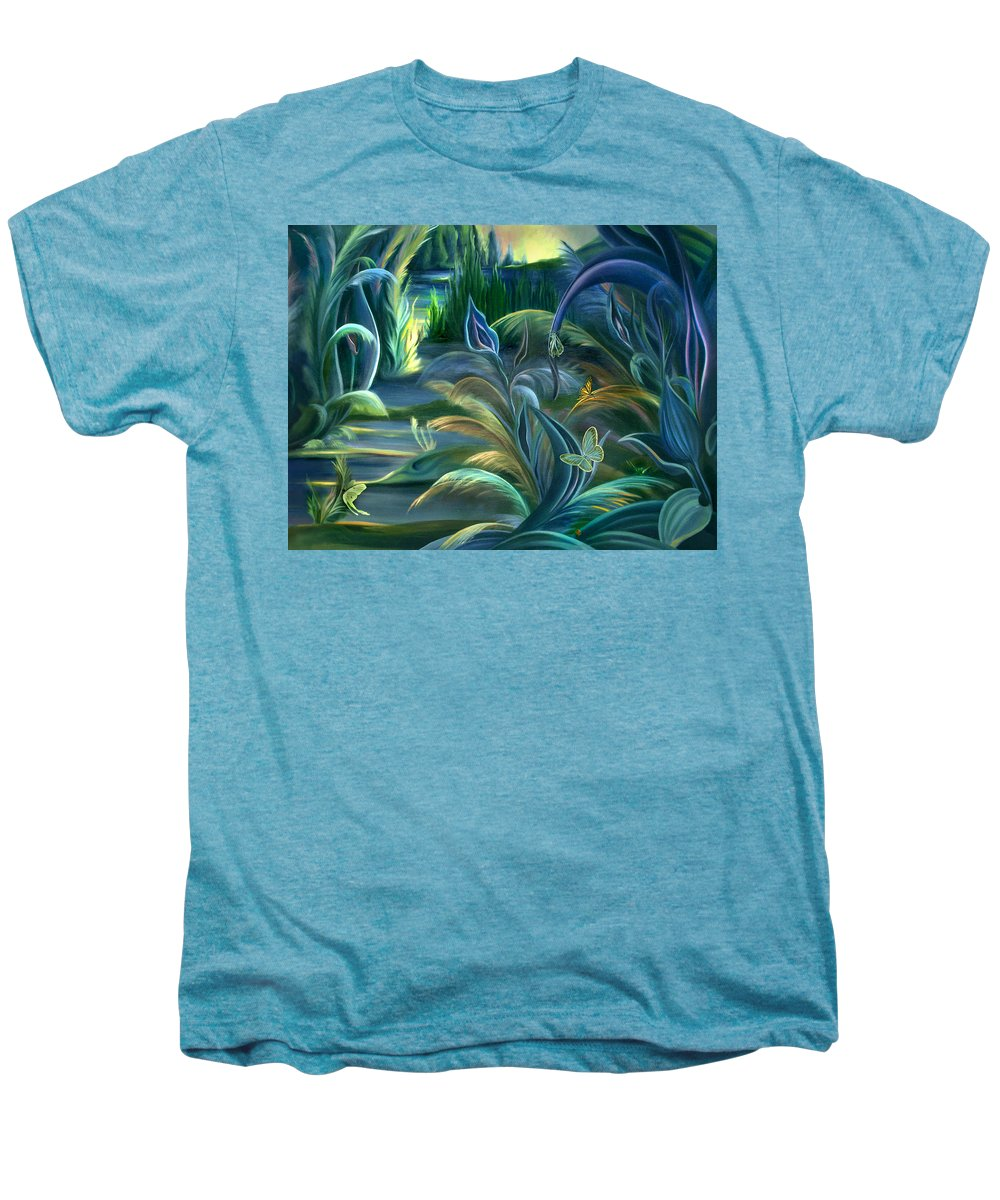 Mural Men's Premium T-Shirt featuring the painting Mural Insects Of Enchanted Stream by Nancy Griswold