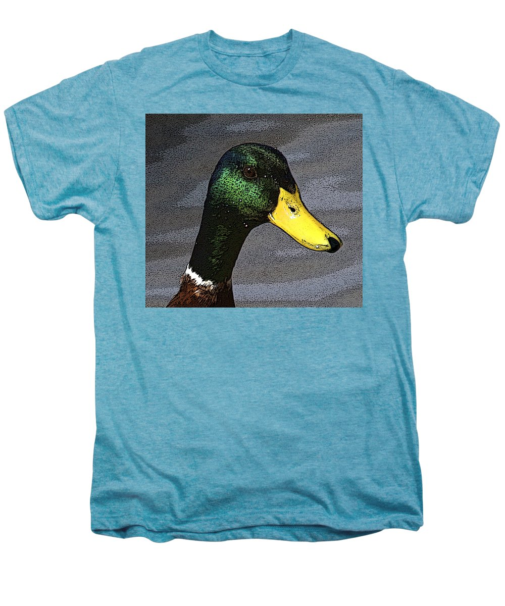 Duck Men's Premium T-Shirt featuring the photograph My Close Up by Robert Pearson