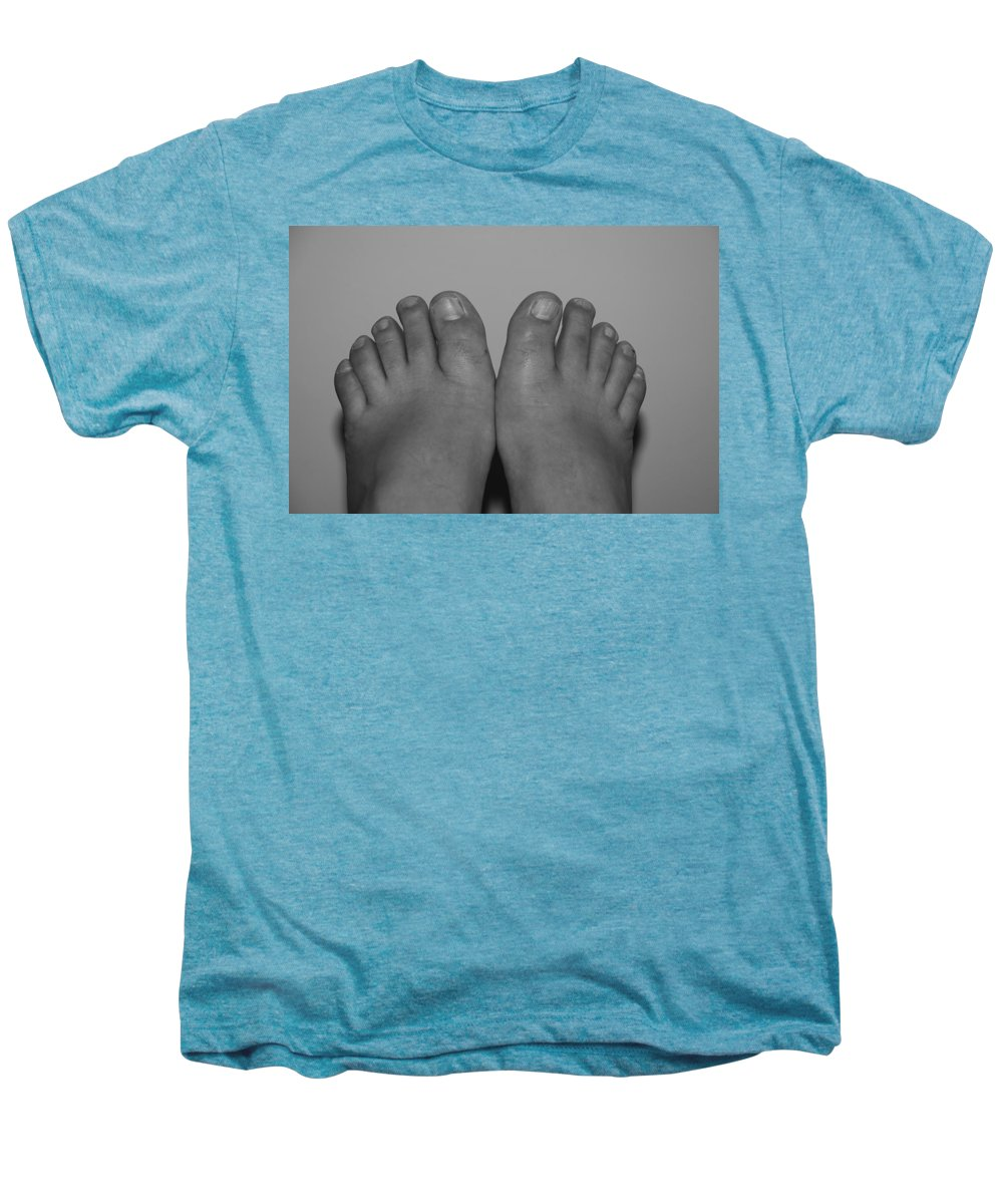 Pop Art Men's Premium T-Shirt featuring the photograph My Feet By Hans by Rob Hans