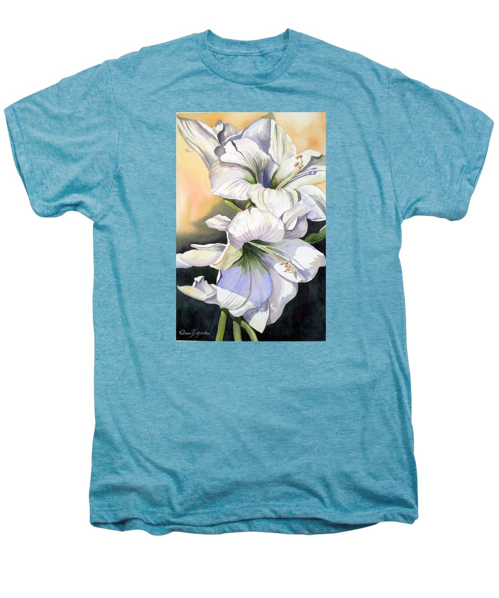 Flower Men's Premium T-Shirt featuring the painting My Love by Tatiana Escobar