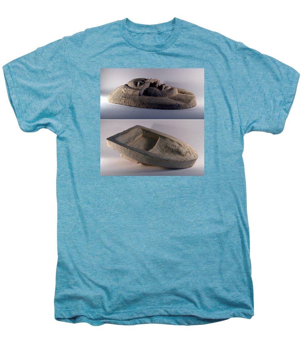 Ceramic Relief Men's Premium T-Shirt featuring the relief My Veils II by Madalena Lobao-Tello