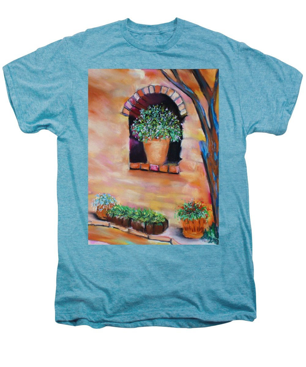 Courtyard Men's Premium T-Shirt featuring the painting Nash's Courtyard by Melinda Etzold