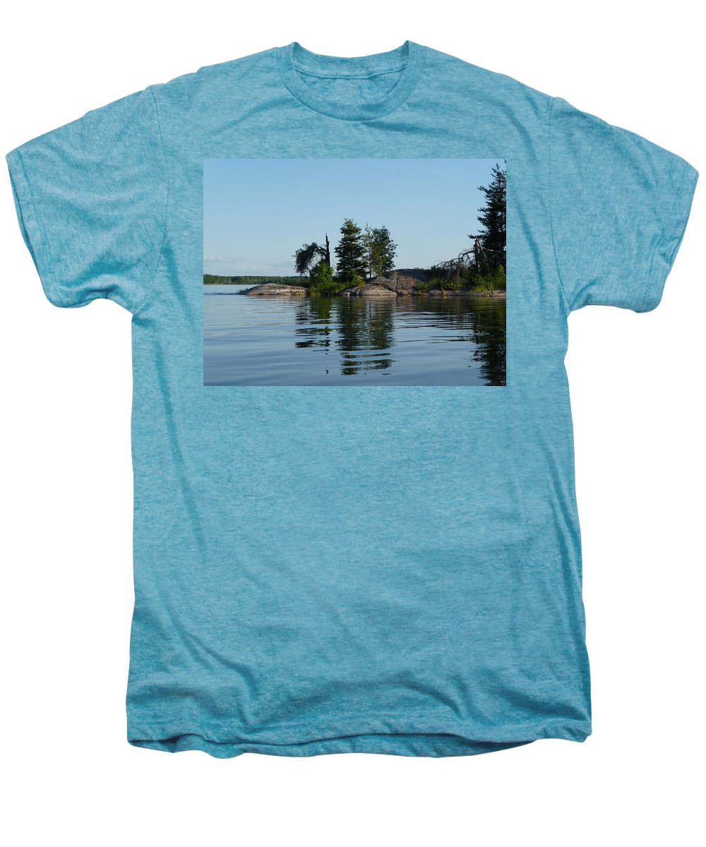 Lake Men's Premium T-Shirt featuring the photograph Natural Breakwater by Ruth Kamenev