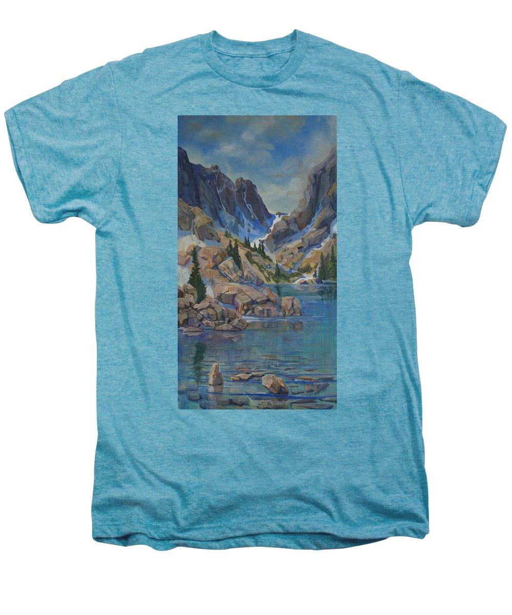 Hayden Spires Men's Premium T-Shirt featuring the painting Near Hayden Spires by Heather Coen