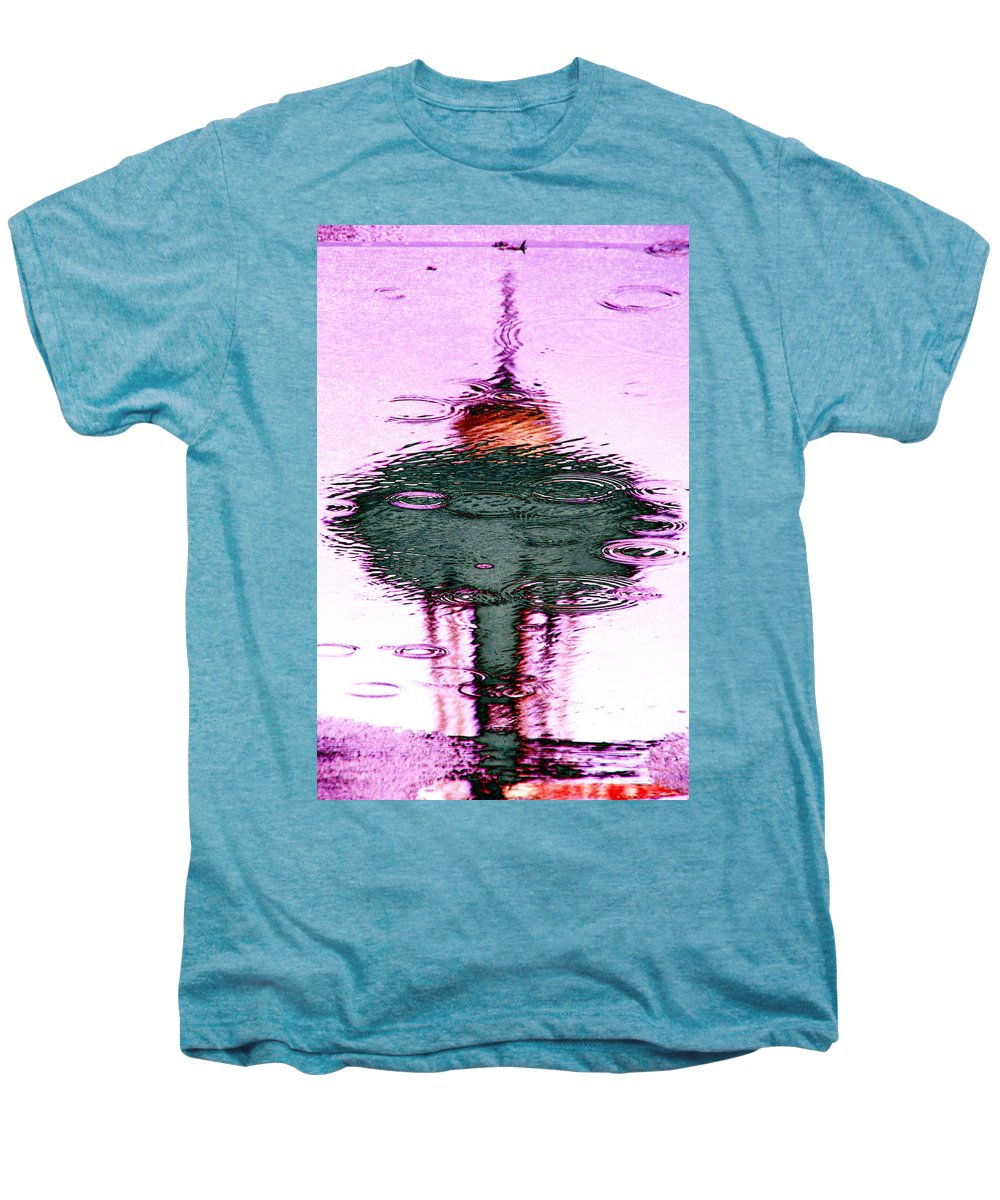 Seattle Men's Premium T-Shirt featuring the photograph Needle In A Raindrop Stack 2 by Tim Allen