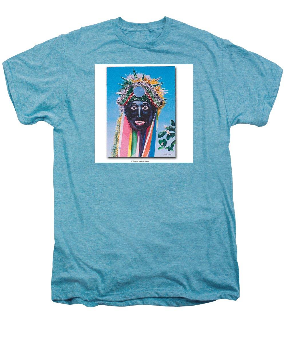 Michael Earney Men's Premium T-Shirt featuring the painting Negrito Y Flor De Limon by Michael Earney