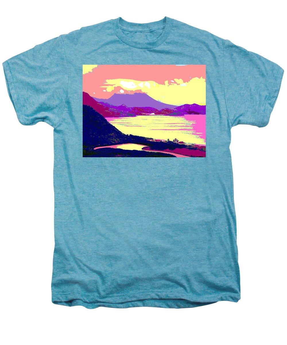 Nevis Men's Premium T-Shirt featuring the photograph Nevis From The Penninsula by Ian MacDonald