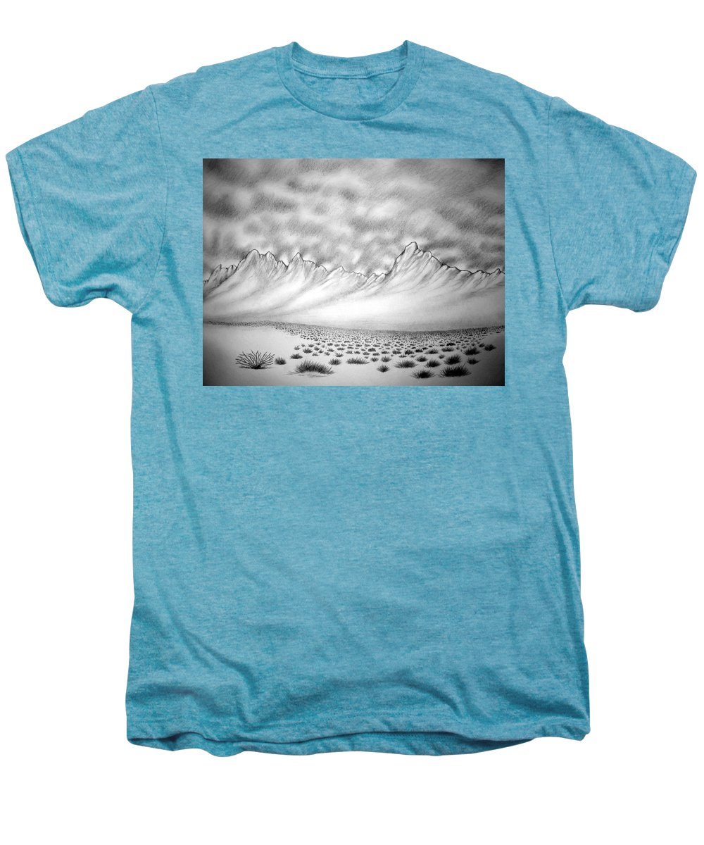 Men's Premium T-Shirt featuring the drawing New Mexico Passage by Marco Morales