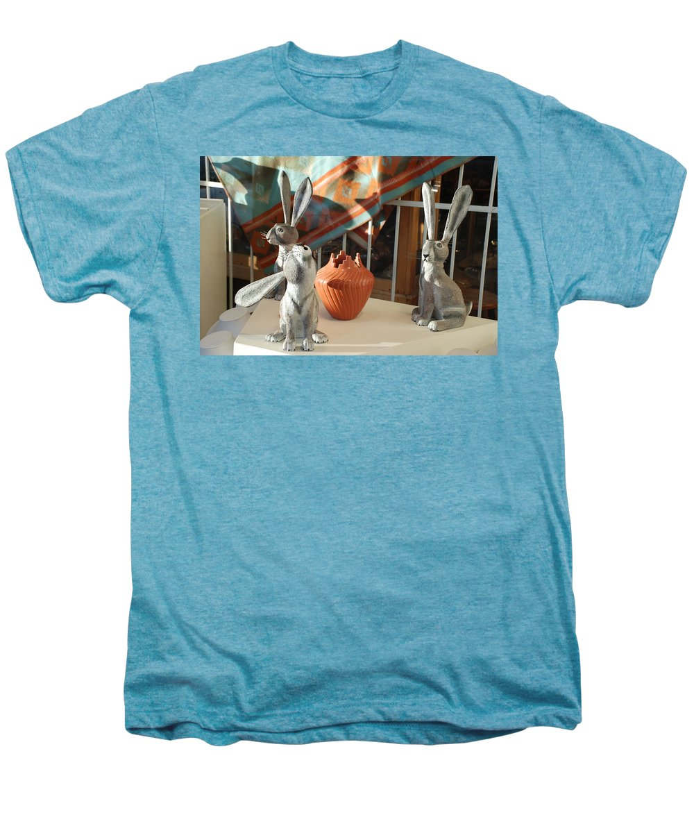 Rabbits Men's Premium T-Shirt featuring the photograph New Mexico Rabbits by Rob Hans