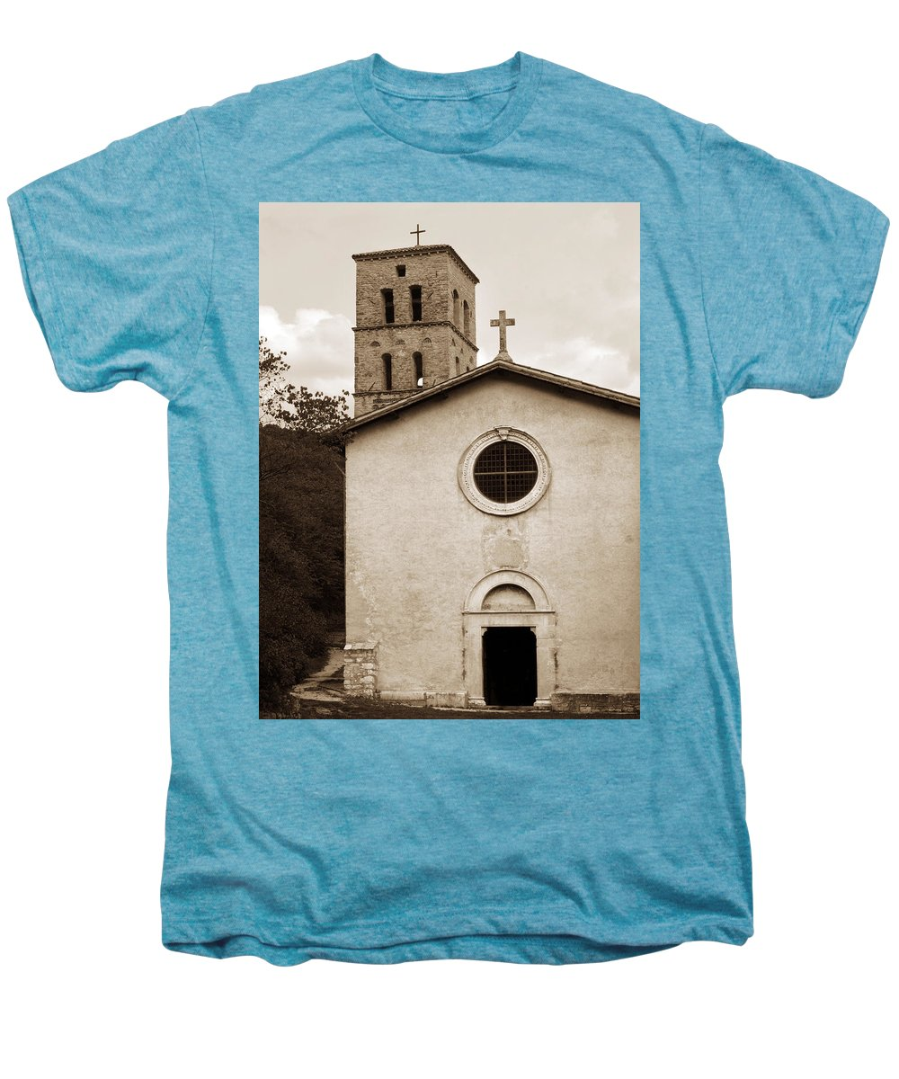 Curch Men's Premium T-Shirt featuring the photograph Nice Old Church For Wedding by Marilyn Hunt