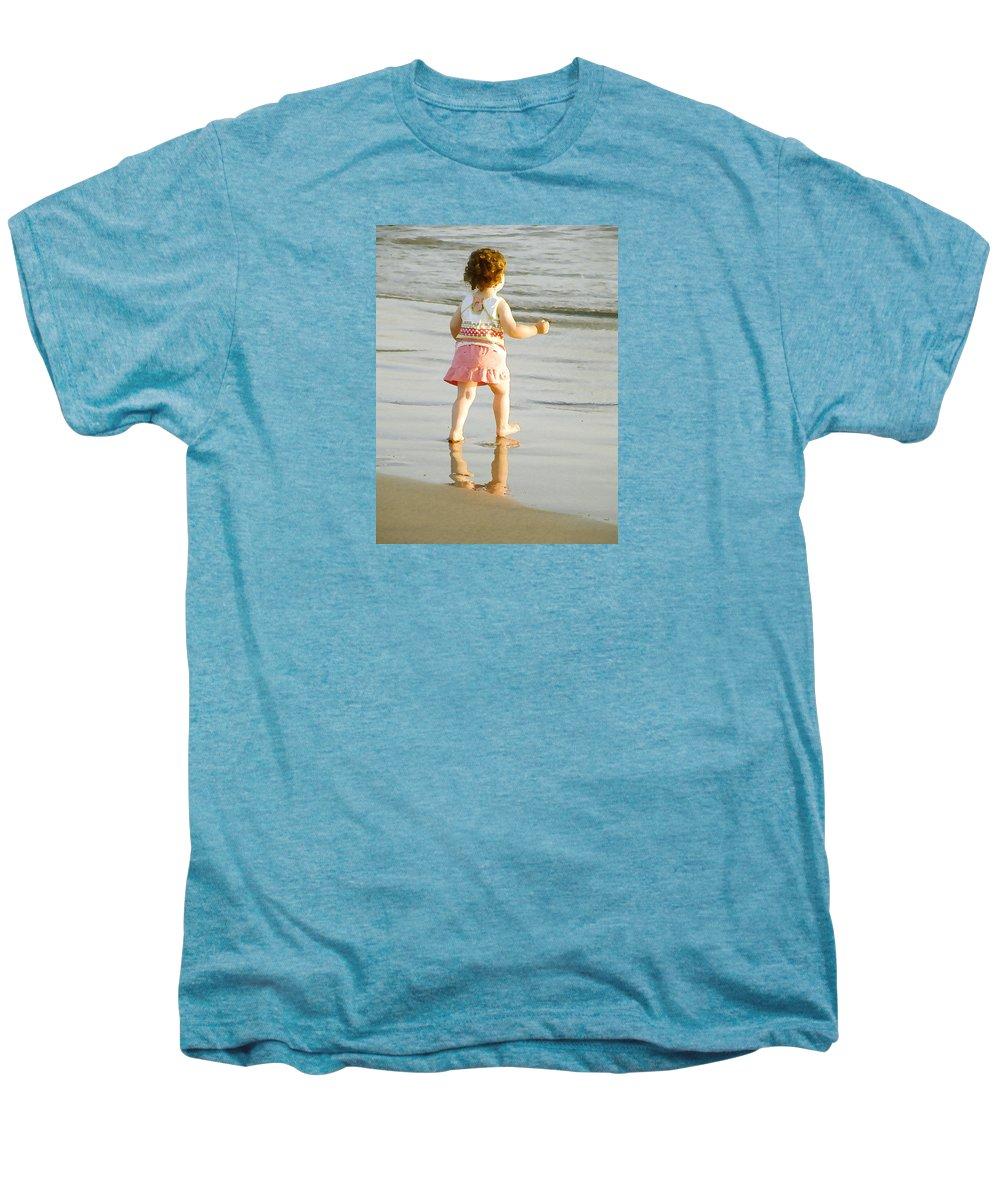 Beach Men's Premium T-Shirt featuring the photograph No Fear by Margie Wildblood