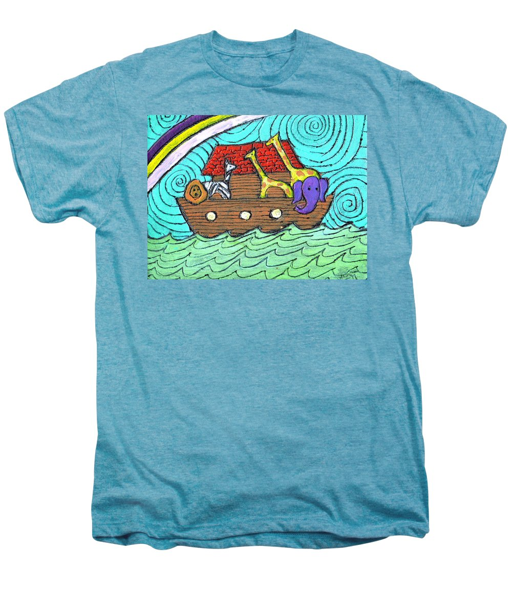 Children's Men's Premium T-Shirt featuring the painting Noahs Ark Two by Wayne Potrafka