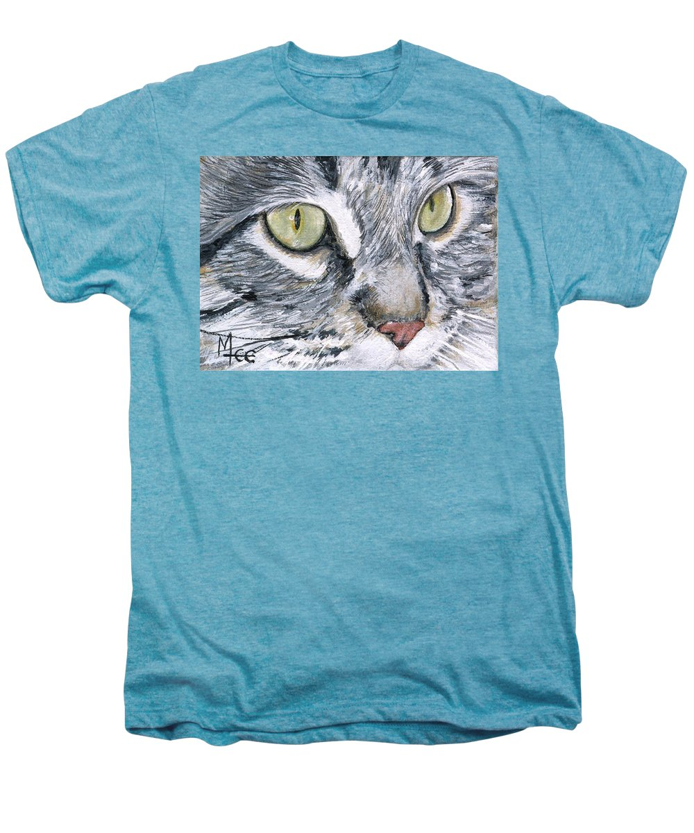 Charity Men's Premium T-Shirt featuring the painting Noel by Mary-Lee Sanders