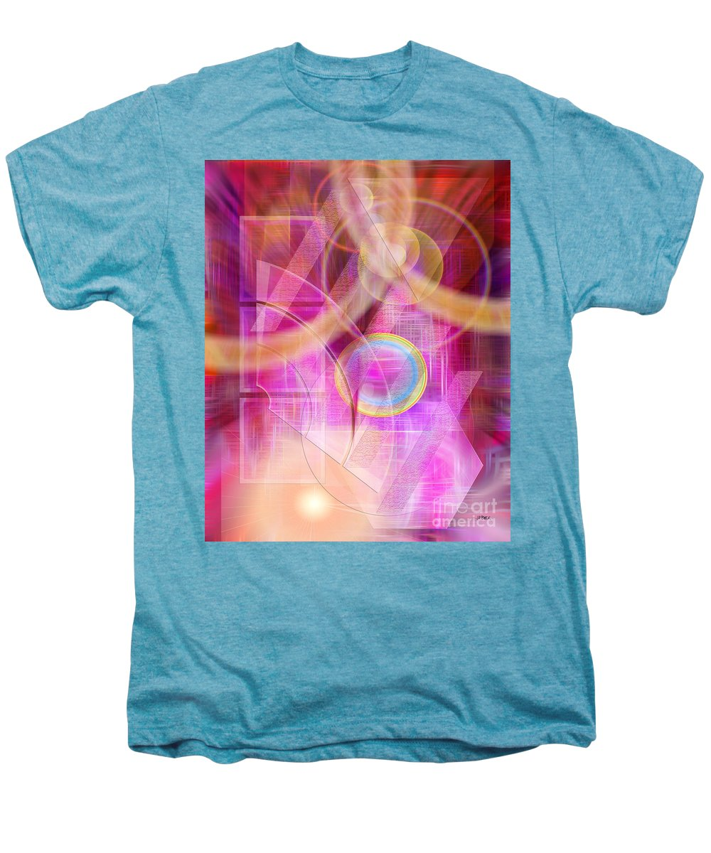 Northern Lights Men's Premium T-Shirt featuring the digital art Northern Lights by John Beck
