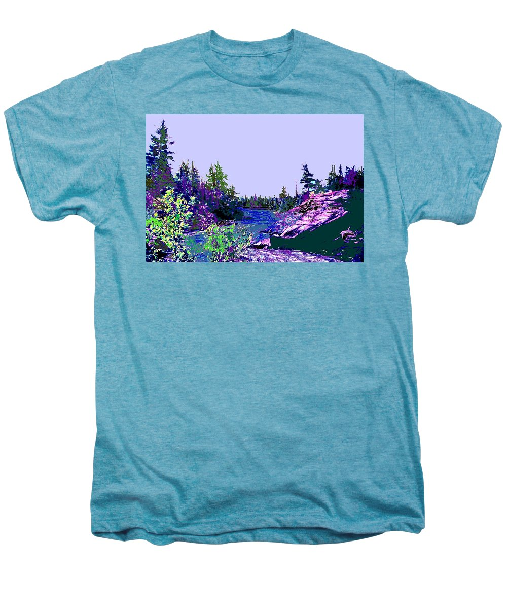 Norlthern Men's Premium T-Shirt featuring the photograph Northern Ontario River by Ian MacDonald