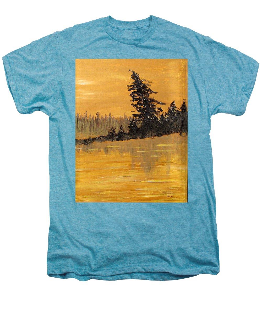 Northern Ontario Men's Premium T-Shirt featuring the painting Northern Ontario Three by Ian MacDonald