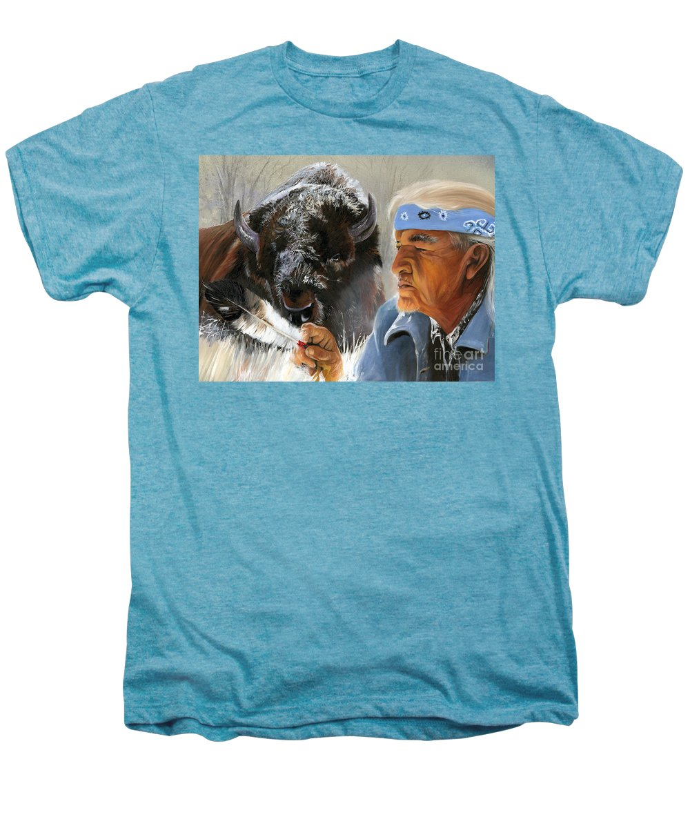 Southwest Art Men's Premium T-Shirt featuring the painting Nothing Is Ever Forgotten by J W Baker