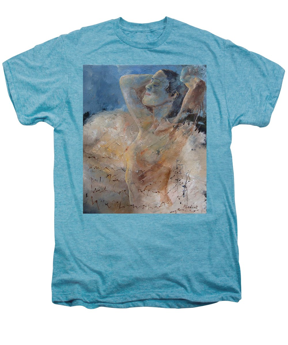 Nude Men's Premium T-Shirt featuring the painting Nude 0508 by Pol Ledent