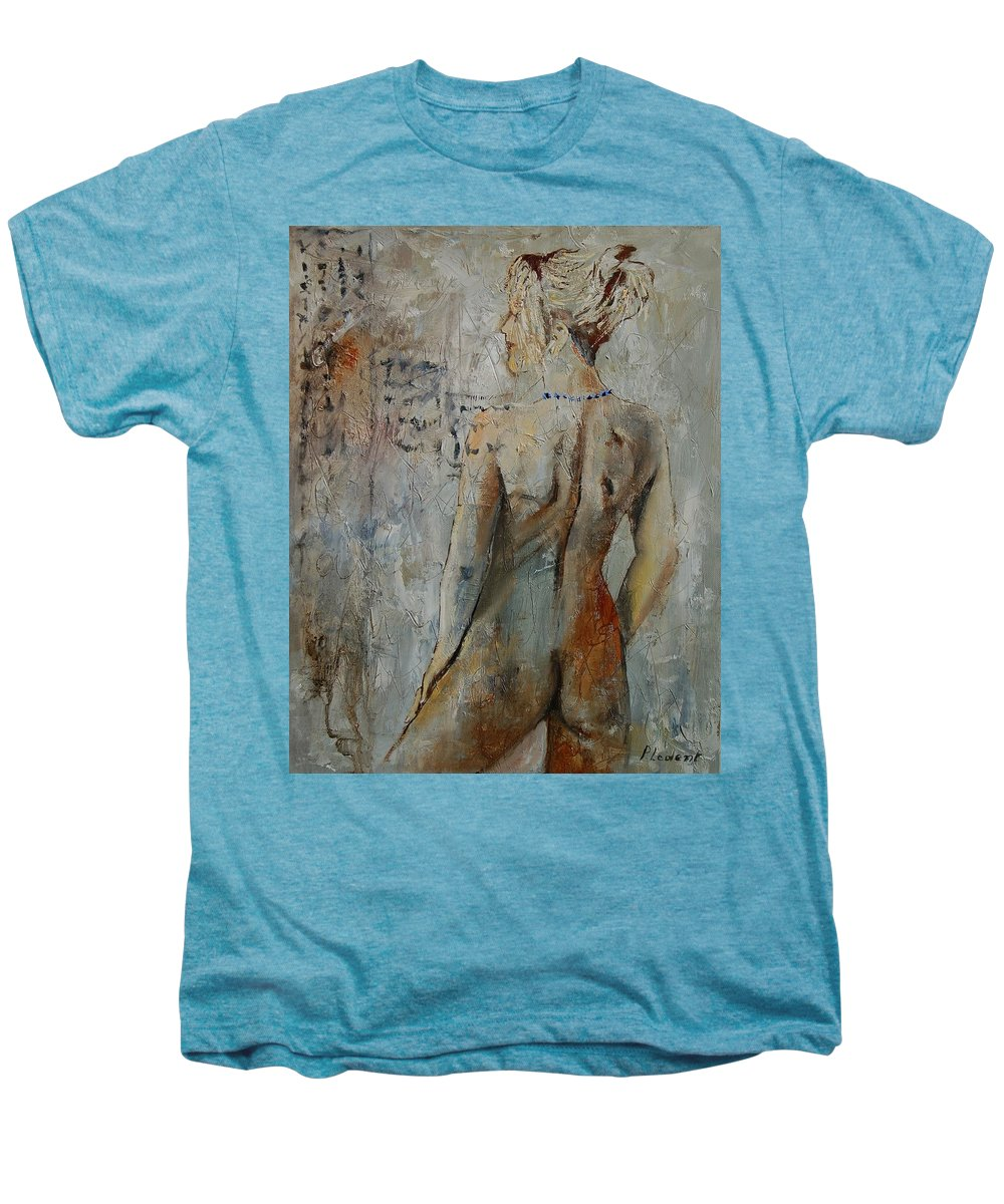 Girl Men's Premium T-Shirt featuring the painting Nude 459020 by Pol Ledent