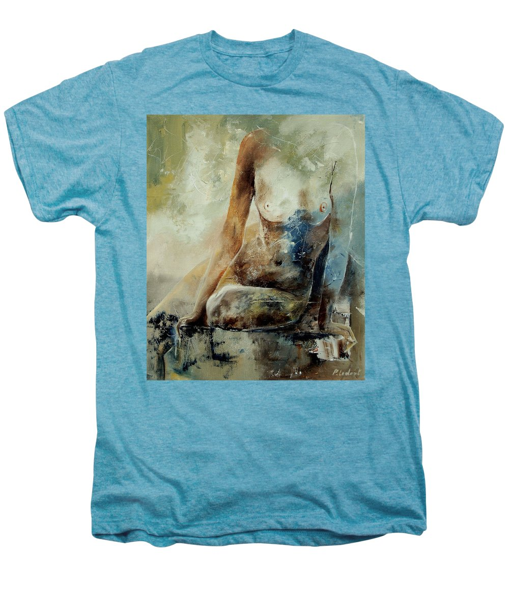 Nude Men's Premium T-Shirt featuring the painting Nude 560408 by Pol Ledent