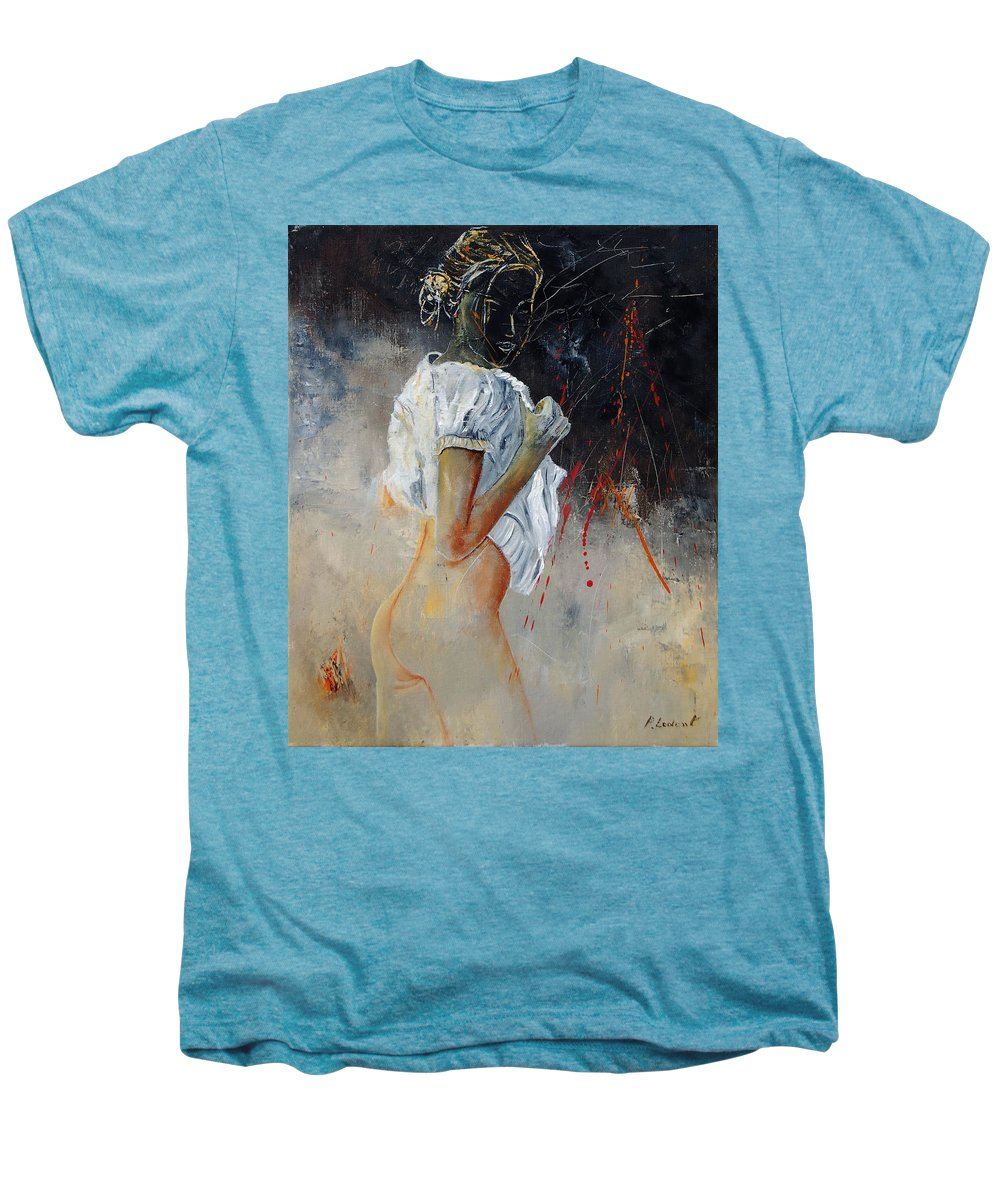 Nude Men's Premium T-Shirt featuring the painting Nude 560508 by Pol Ledent