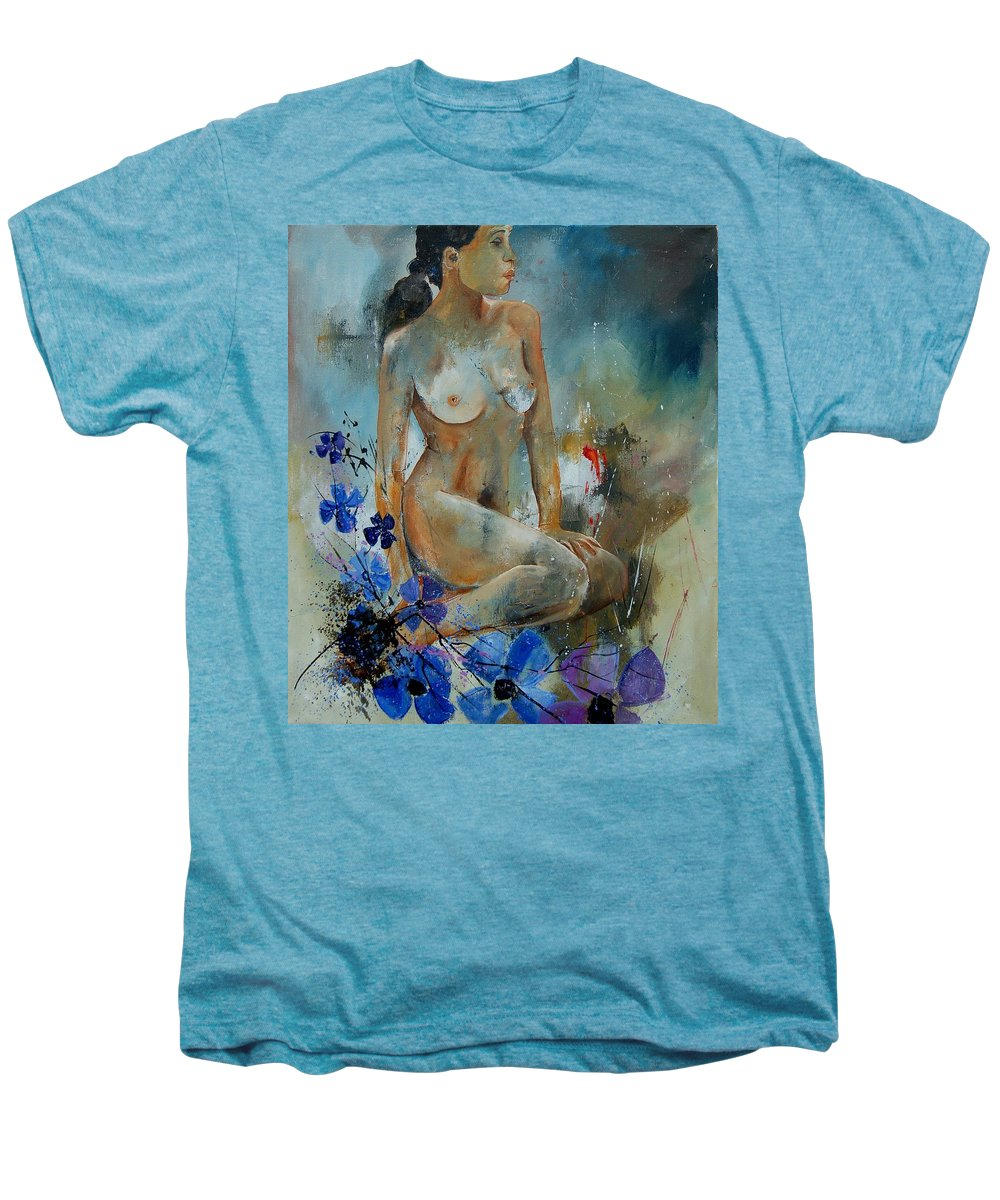 Girl Men's Premium T-Shirt featuring the painting Nude 67 by Pol Ledent